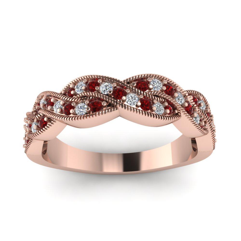 Womens Rose Gold Wedding Rings