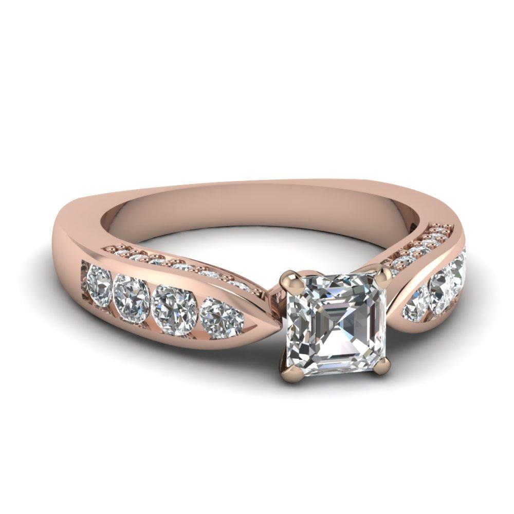 Royal Asscher Cut Engagement Ring