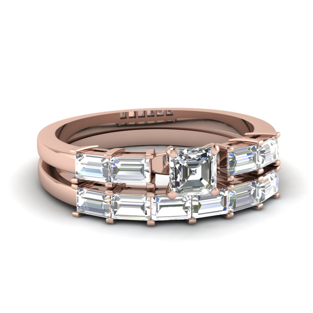 Channel Set Baguette Wedding Ring