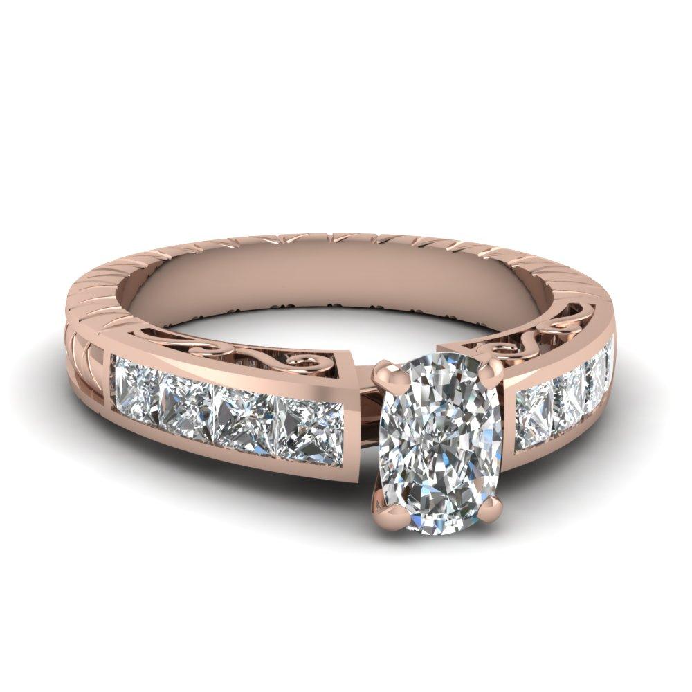 Cushion Cut Diamond Filigree Ring