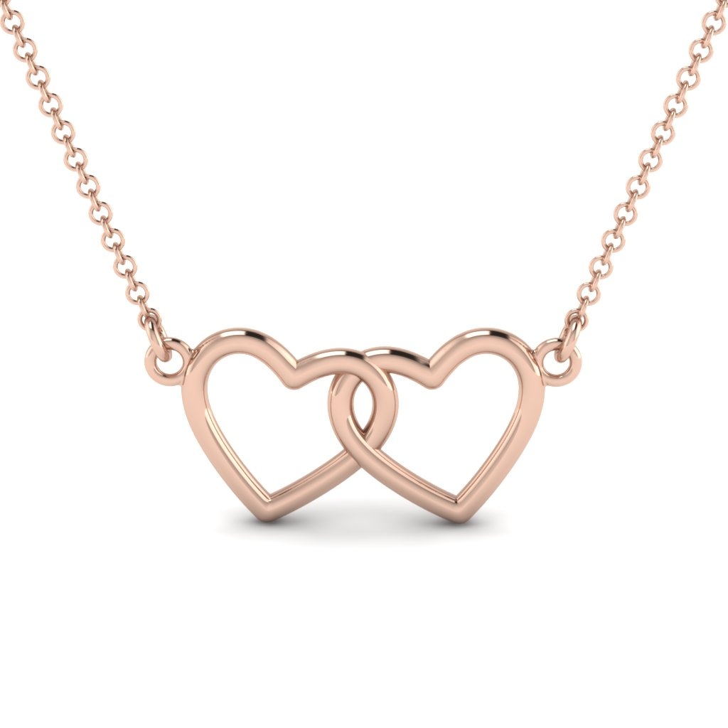 chains heart with set necklace cubic dcn sterling zirconia gold chain silver