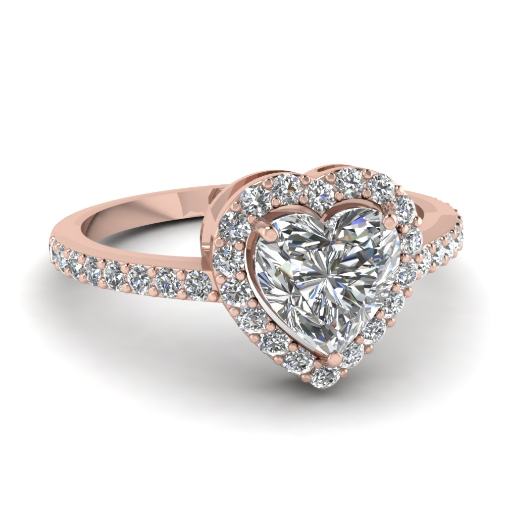 heart halo ring fascinating diamonds
