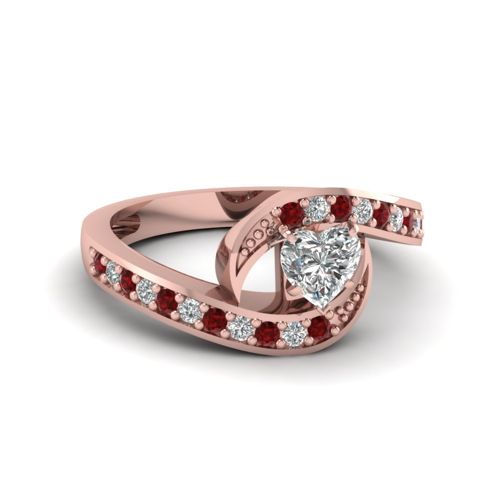 Gallery For Rose Shaped Ruby Engagement Ring