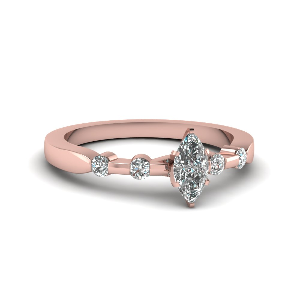 Semi bezel thin band ring | Fascinating Diamonds