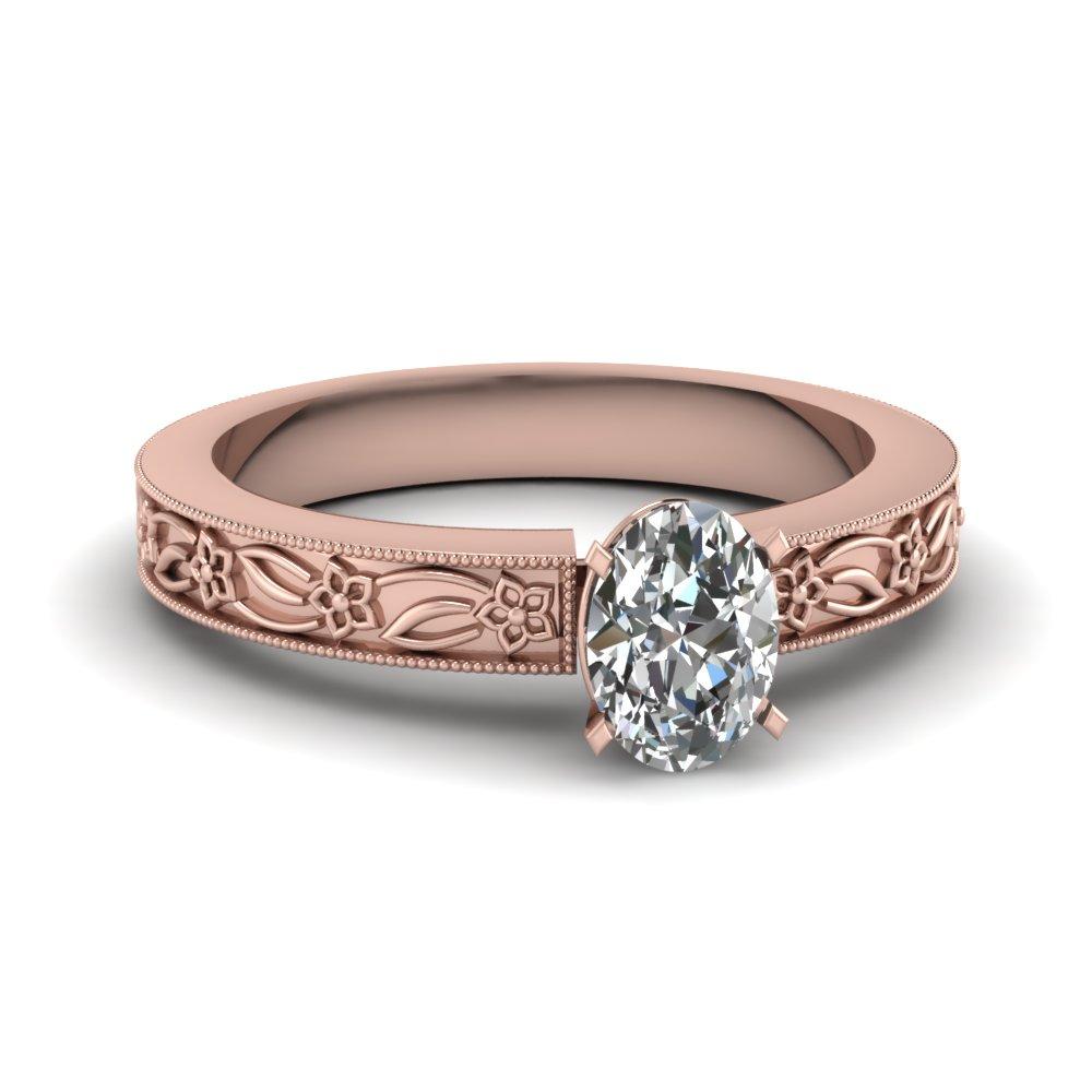 4 Prong Vintage Single Diamond Ring