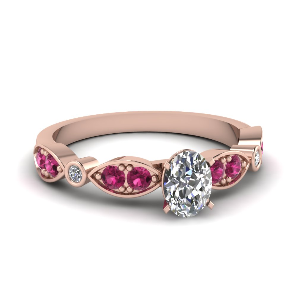 rose-gold-oval-white-diamond-engagement-wedding-ring-with-dark-pink-sapphire-in-pave-bezel-set-FDENS2035OVRGSADRPI-NL-RG