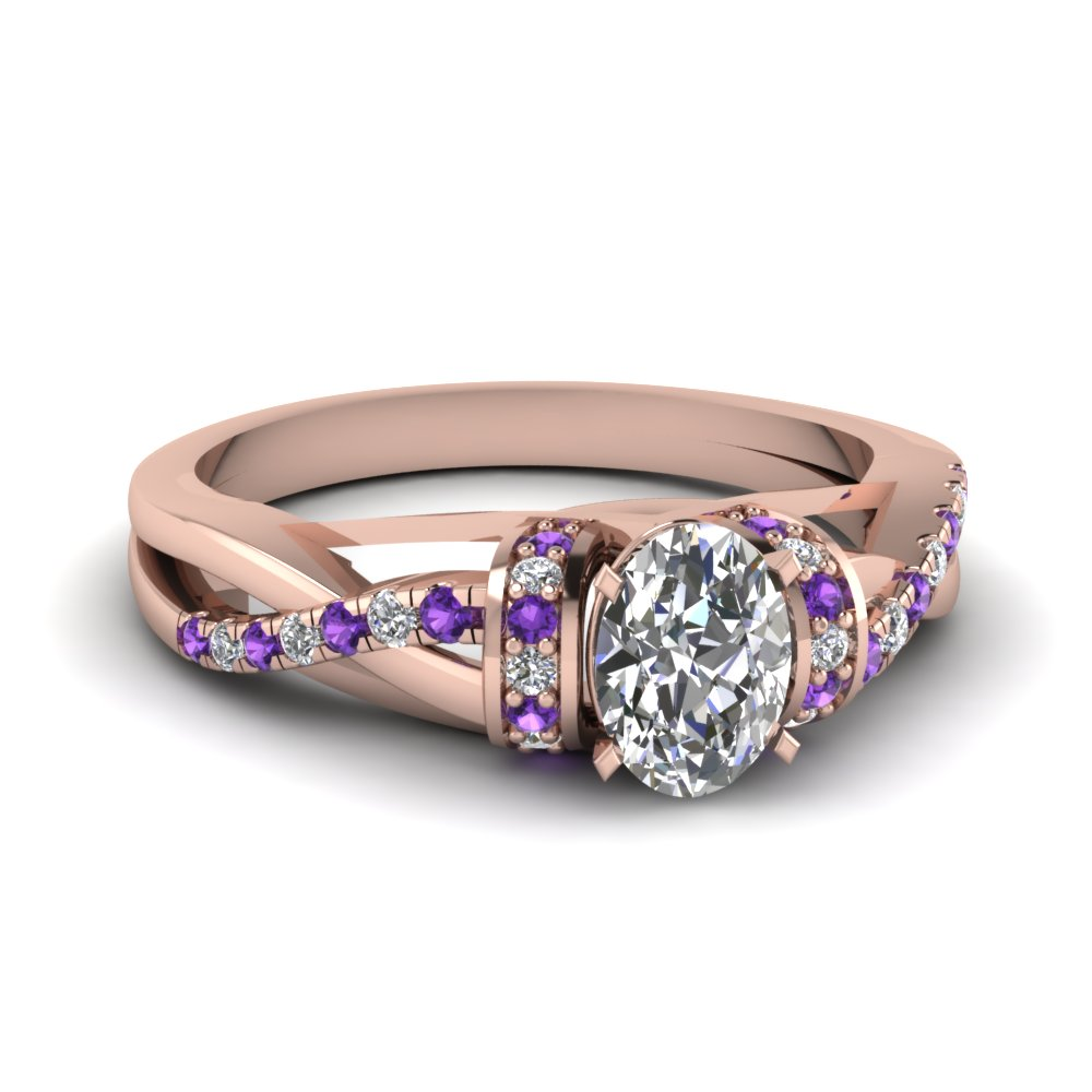 Ever-charming Purple Topaz Engagement Rings