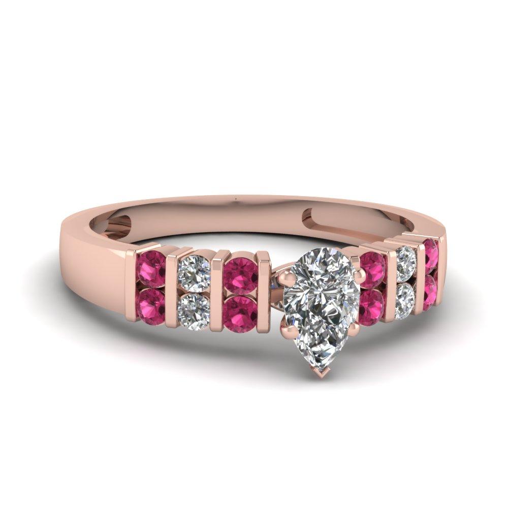 Vertical Bar Set Diamond Wide Ring