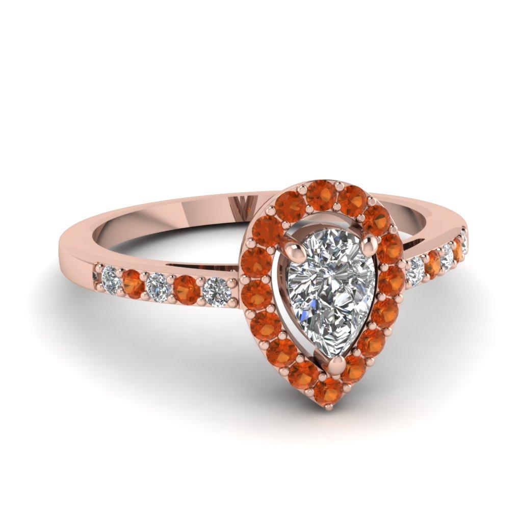 Teardrop Engagement Rings