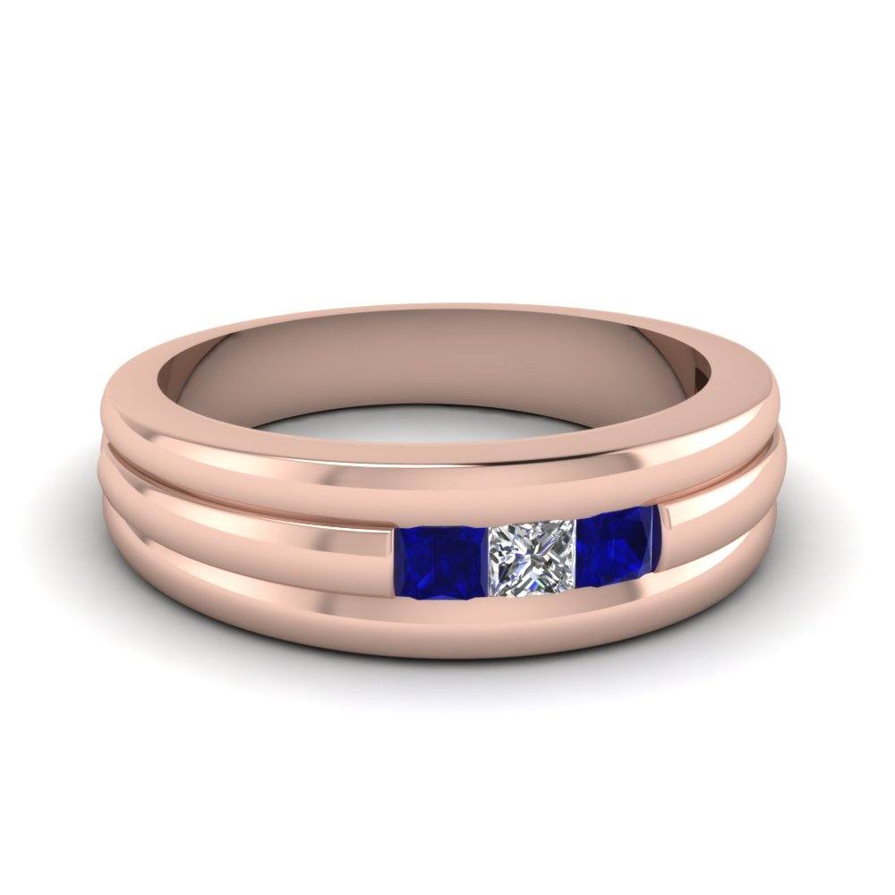 Rose Gold Womens Wedding Band