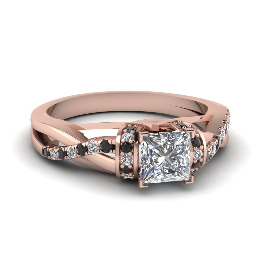 Customize Your Princess Cut Diamond Side Stone Rings