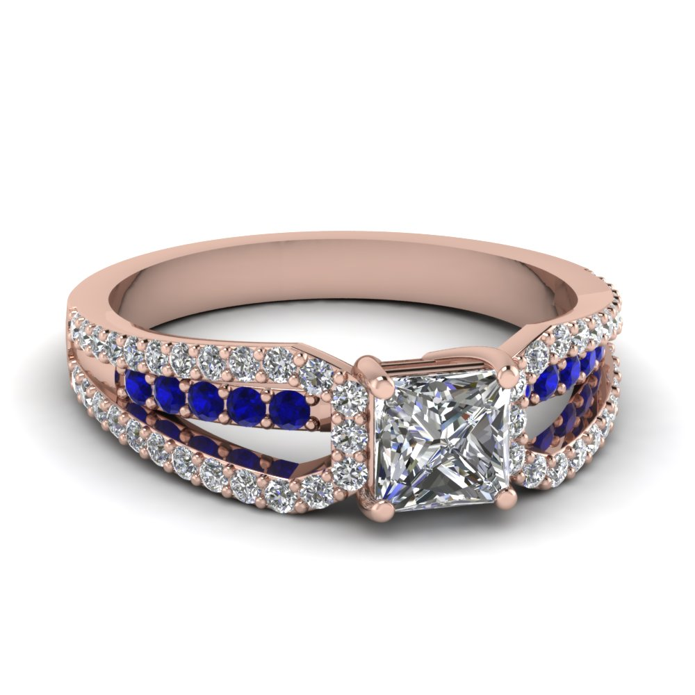 rose-gold-princess-white-diamond-engagement-wedding-ring-with-blue-sapphire-in-prong-set-FD68716PRRGSABL-NL-RG