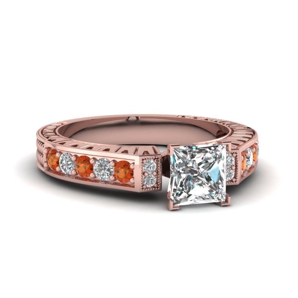 Princess Cut Vintage Engagement Rings