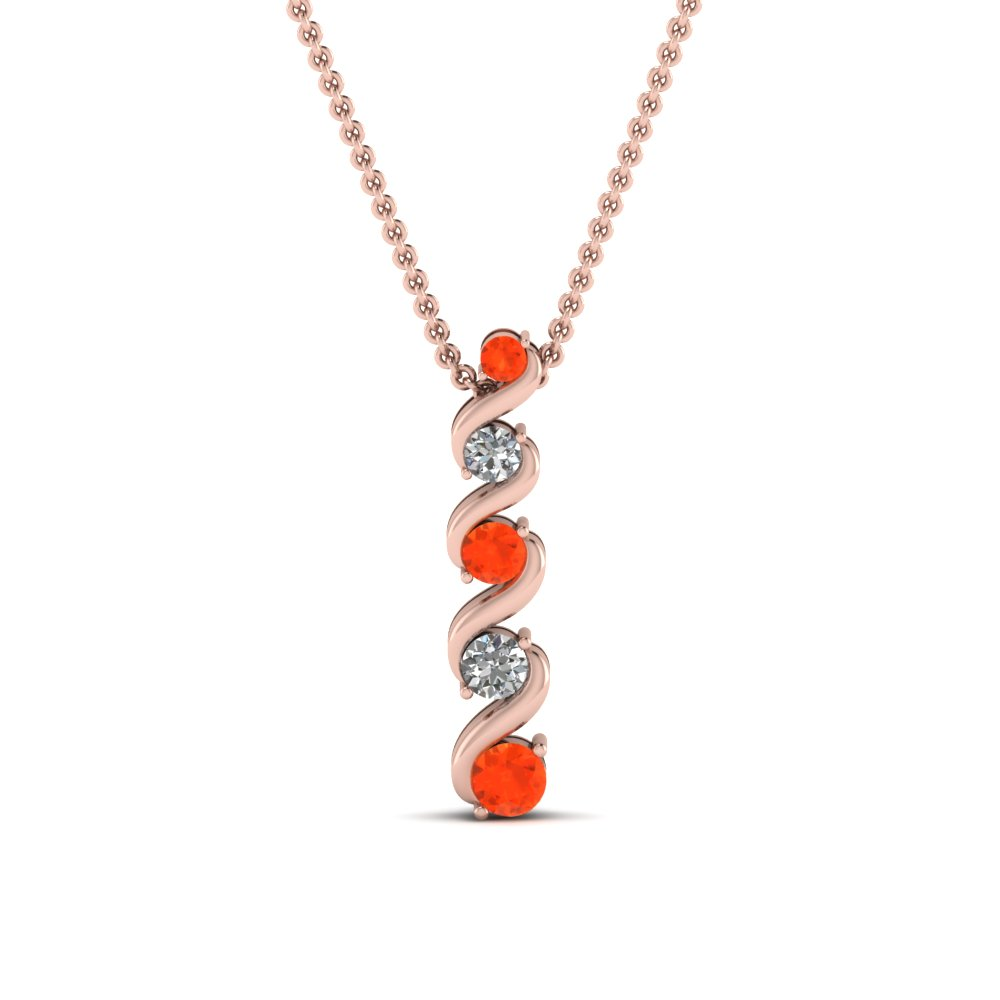 Fancy Pink Gold Imperial Topaz Pendant