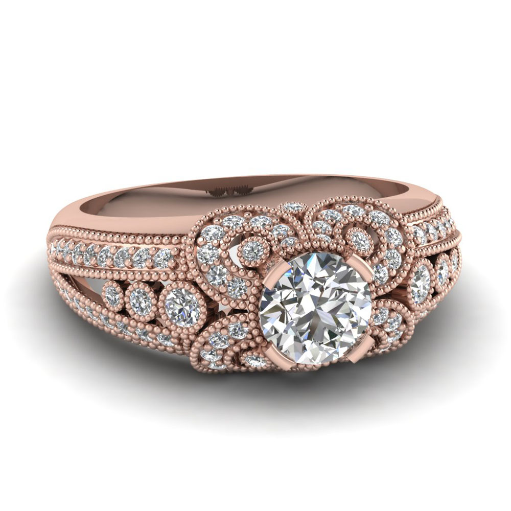 Find Extensive Selection Of Milgrain Engagement Rings | Fascinating Diamonds