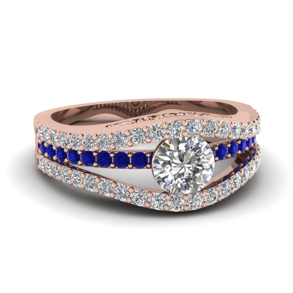 Rose Gold Rings Rose Gold Rings With Blue Diamonds