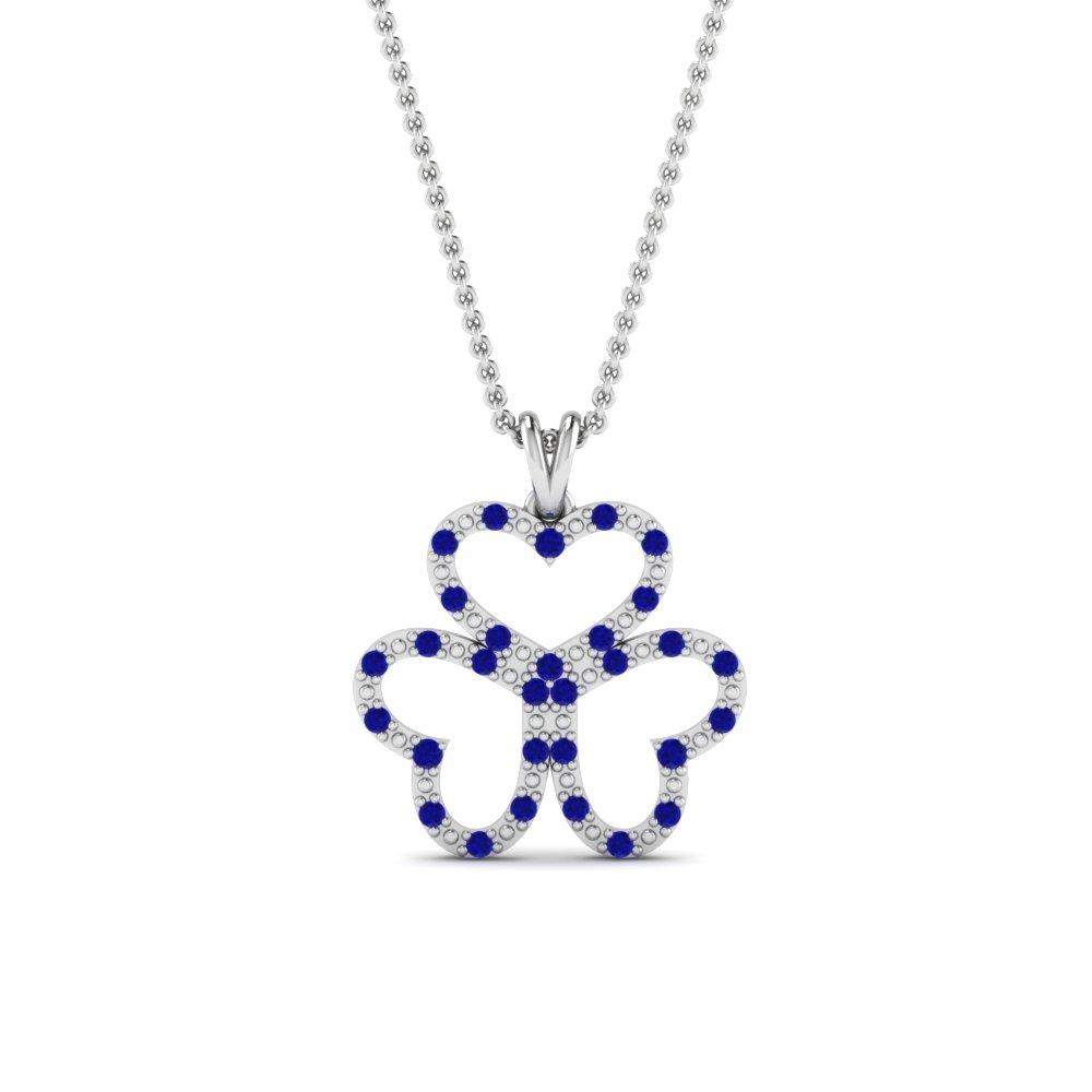 Sapphire And Diamond Pendants