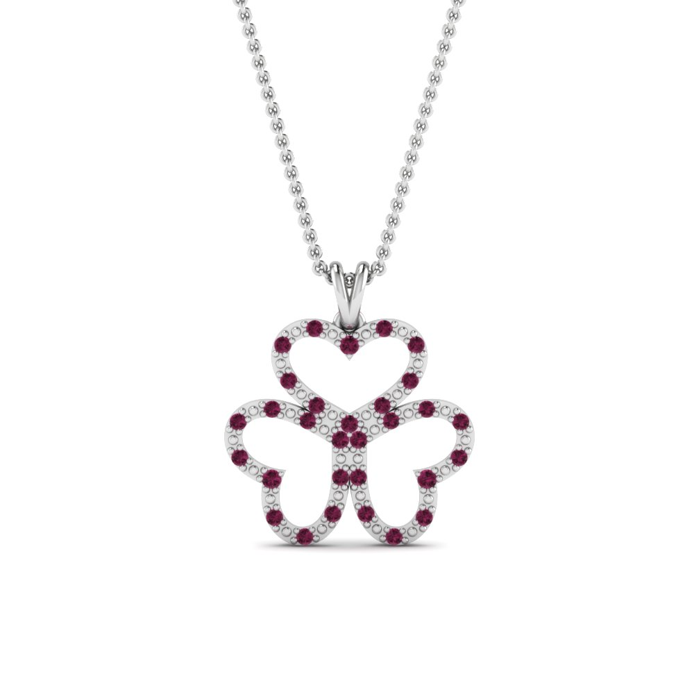 3 Heart Diamond Pendant