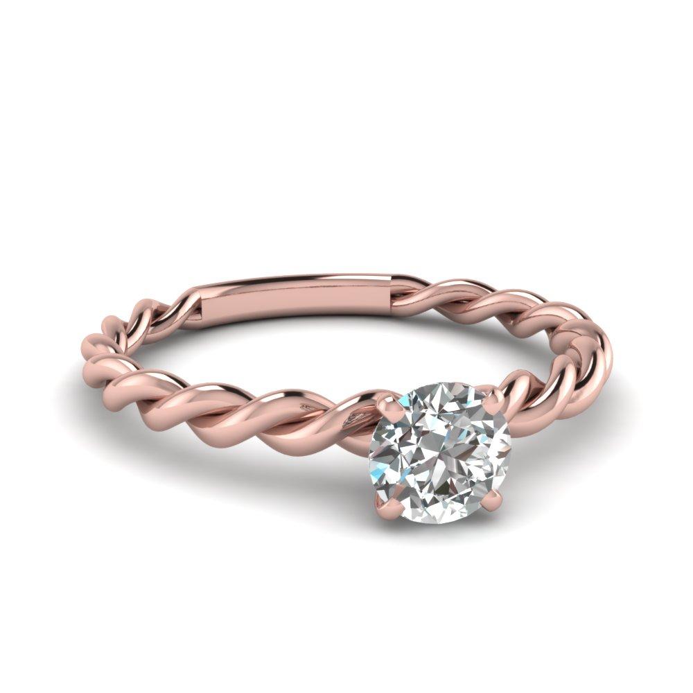 033 Carat Cheap Rope Diamond Engagement Ring