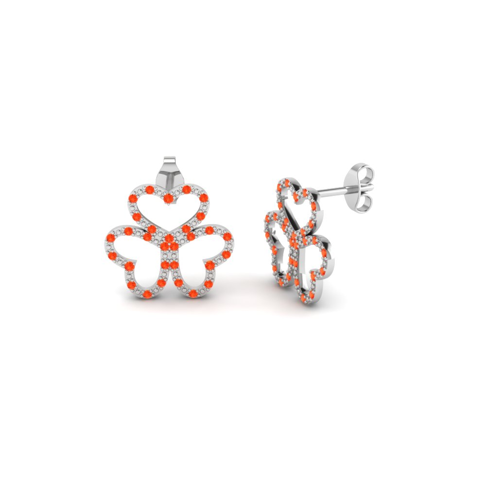 Orange Topaz Earrings