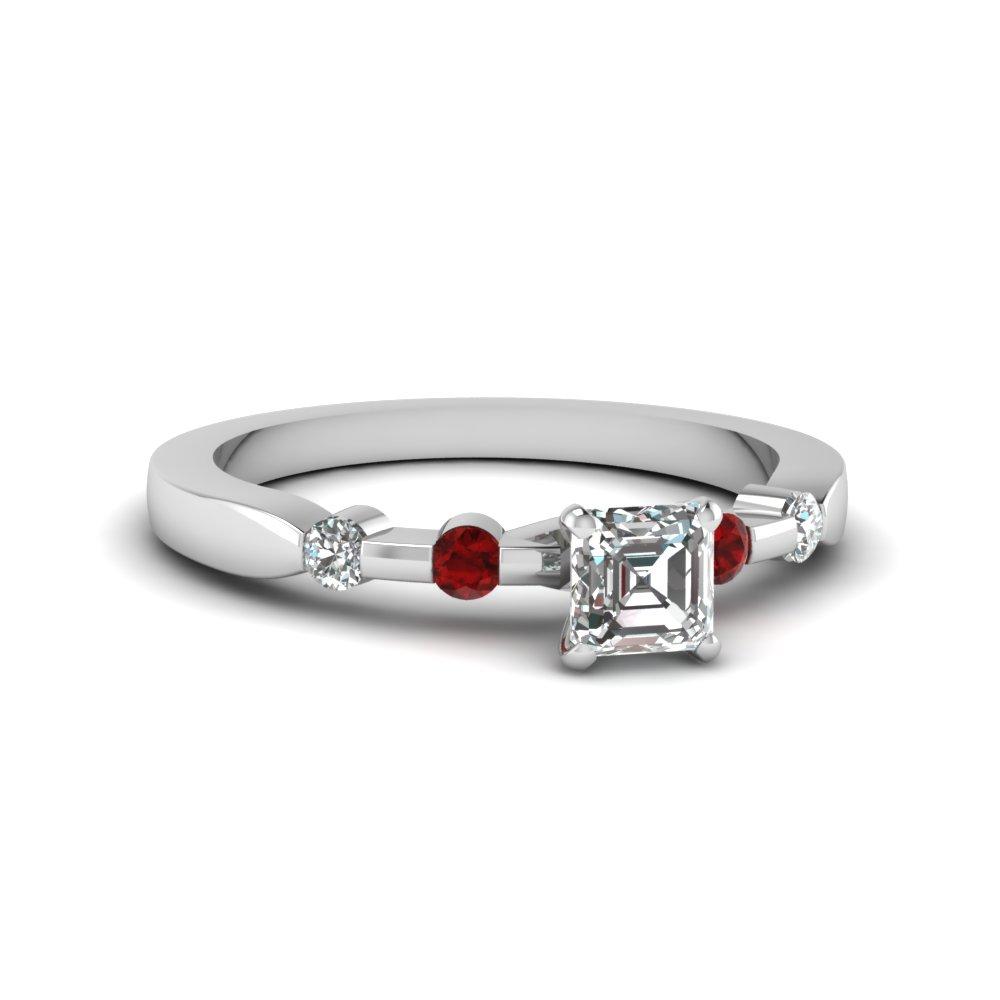 Semi Bezel Set Thin Band Diamond Ring