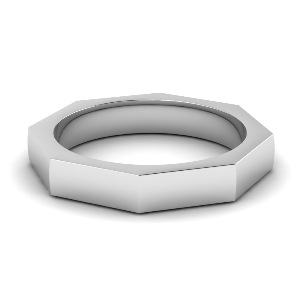 Comfort fit mens wedding band 4mm