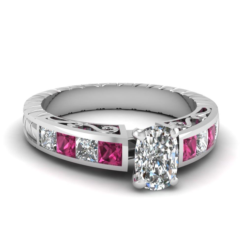 Pink Sapphire Filigree Ring