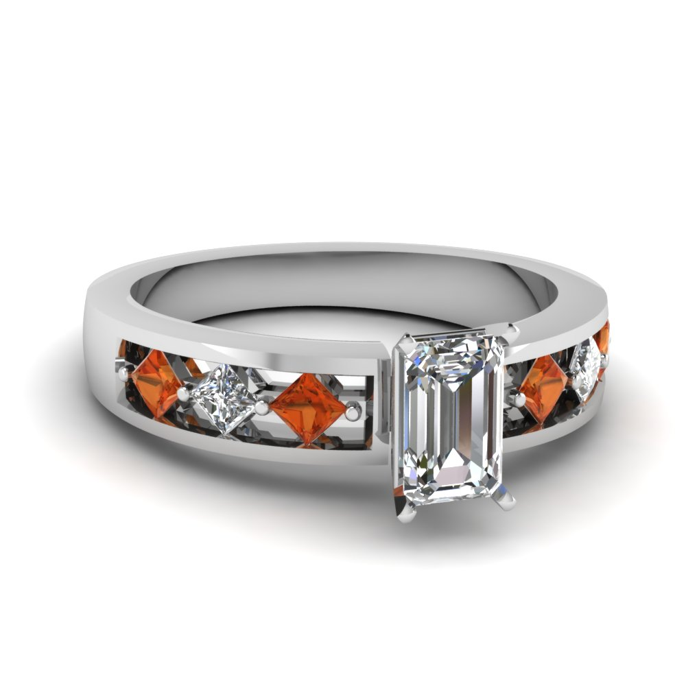 white-gold-emerald-white-diamond-engagement-wedding-ring-with-orange-sapphire-in-channel-set-FDENS1828EMRGSAOR-Nl-WG