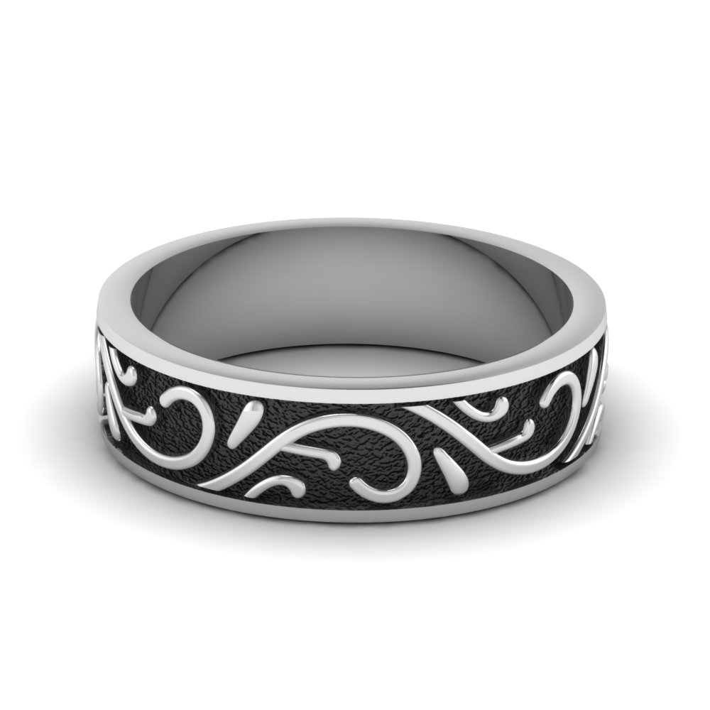 white-gold-exquisite-design-mens-wedding-band-FDHM345B-NL-WG