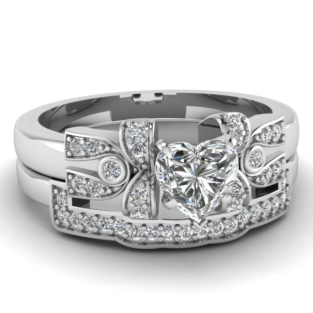 latest designs of heart shaped wedding sets fascinating