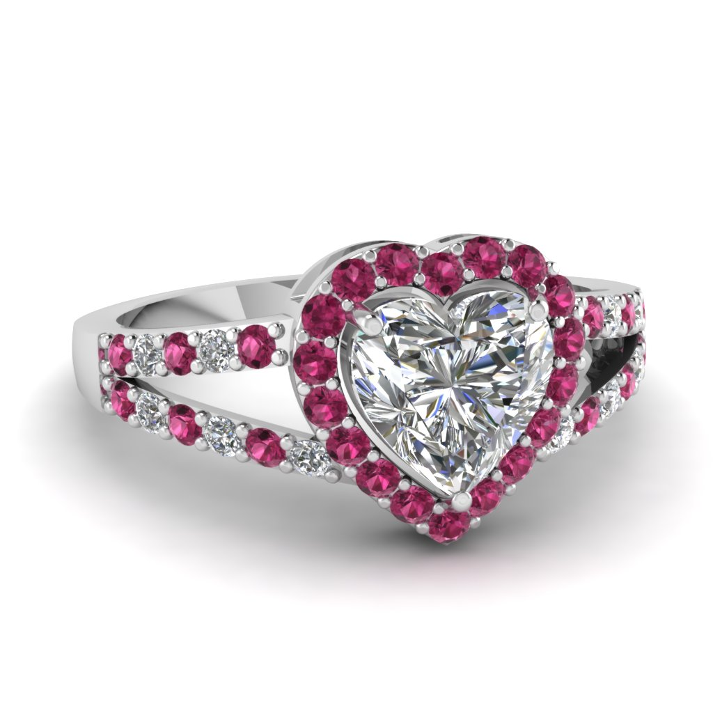 halo heart ring fascinating diamonds. Black Bedroom Furniture Sets. Home Design Ideas