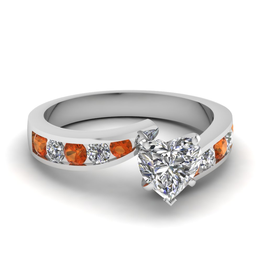 white-gold-heart-white-diamond-engagement-wedding-ring-with-orange-sapphire-in-channel-set-FDENS4028HTRGSAOR-NL-WG