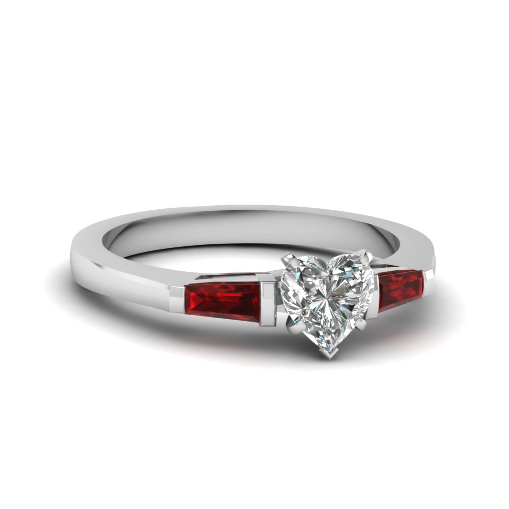 Bar Set Baguette Diamond Ring