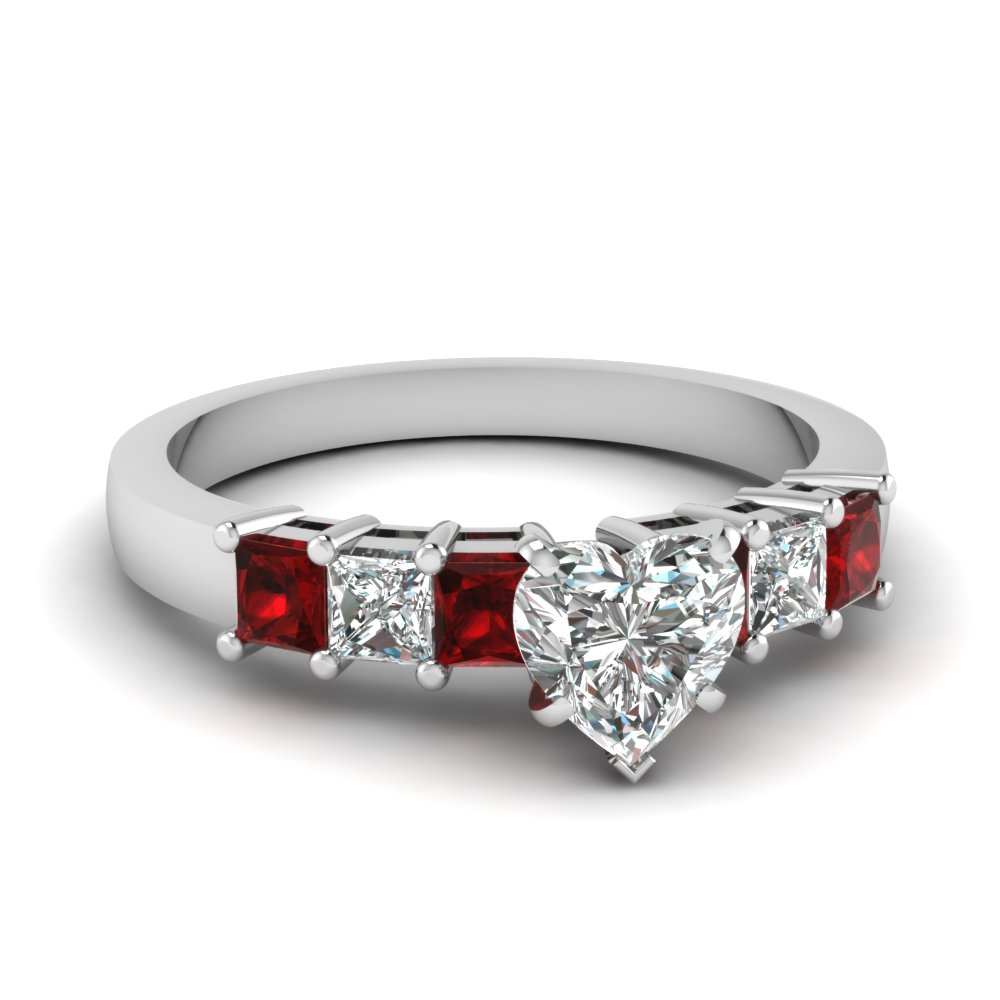 Basket Set Ruby And Diamond Engagement Ring