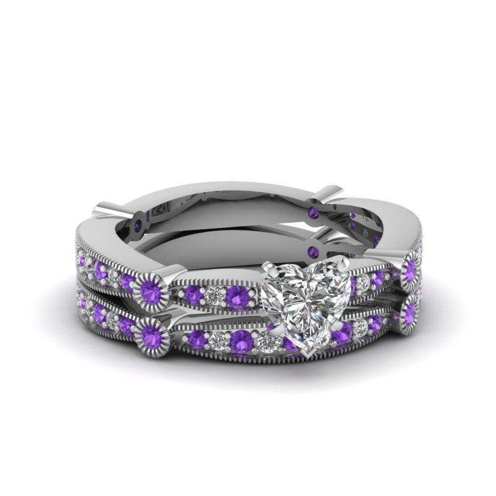 tapered milgrain set fascinating diamonds