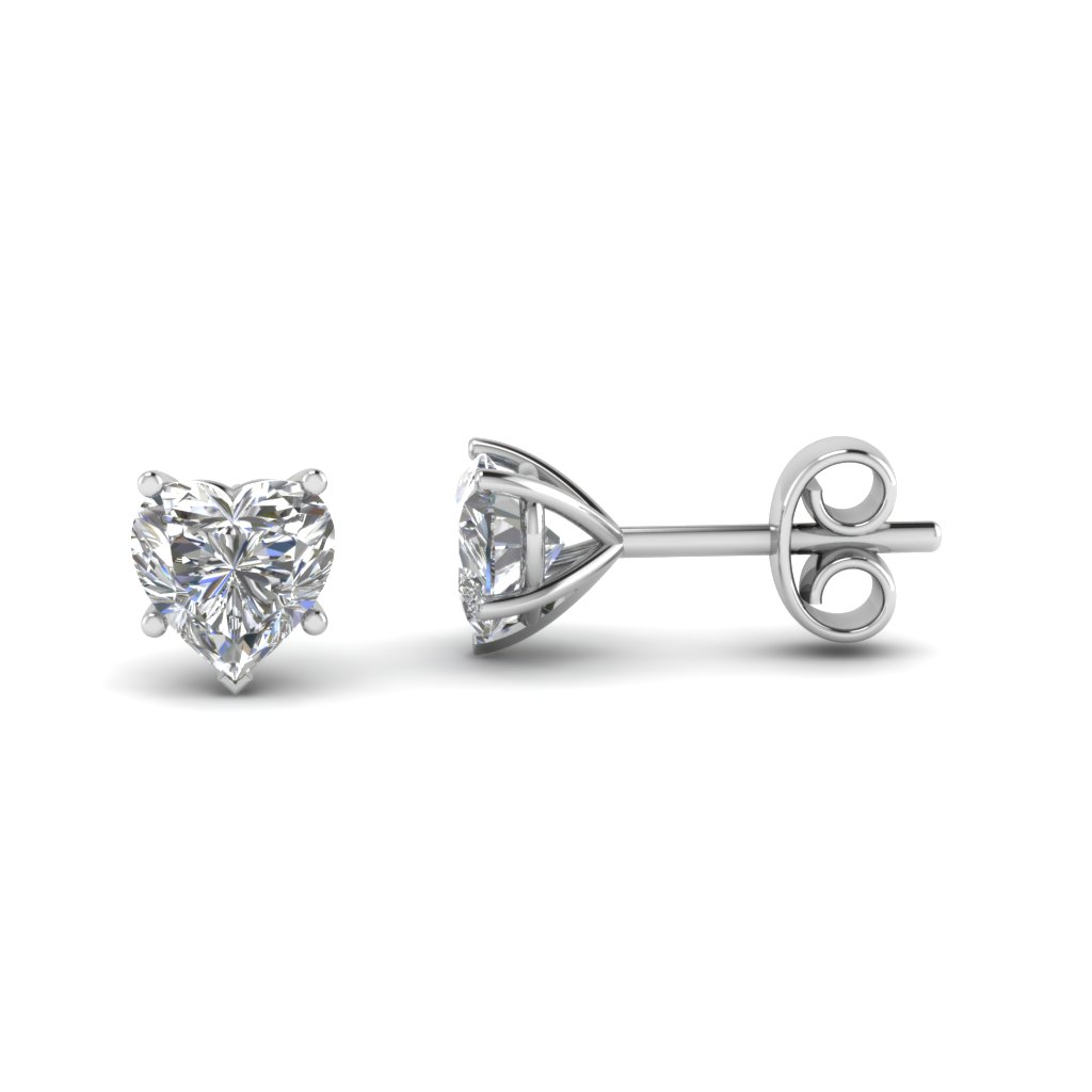 Diamond heart earrings - Diamond Earrings