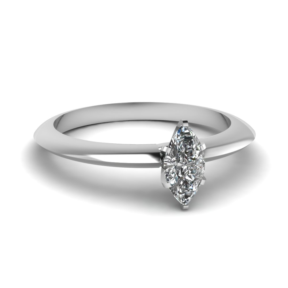 0.50 Ct. Marquise Cut Diamond Engagement Rings