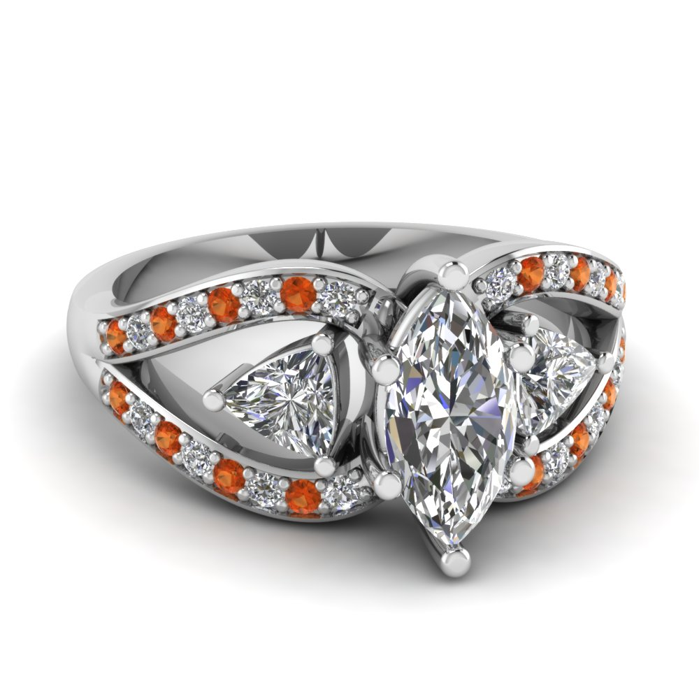 white-gold-marquise-white-diamond-engagement-wedding-ring-with-orange-sapphire-in-pave-set-FD71589MQRGSAOR-NL-WG