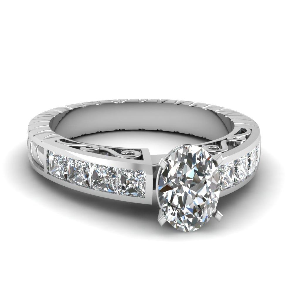 Beautiful Oval Diamond Filigree Ring