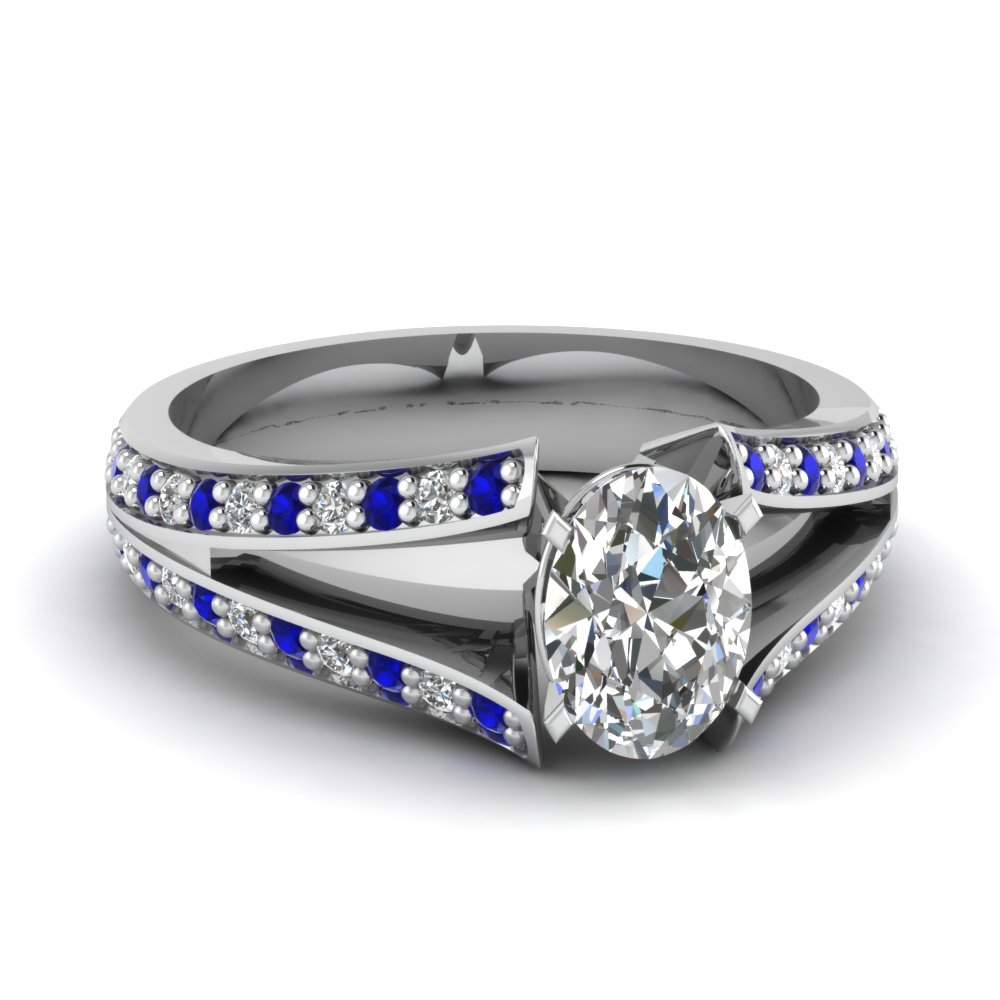 white-gold-oval-white-diamond-engagement-wedding-ring-with-blue-sapphire-in-pave-set-FDENR2774OVRGSABL-NL-WG