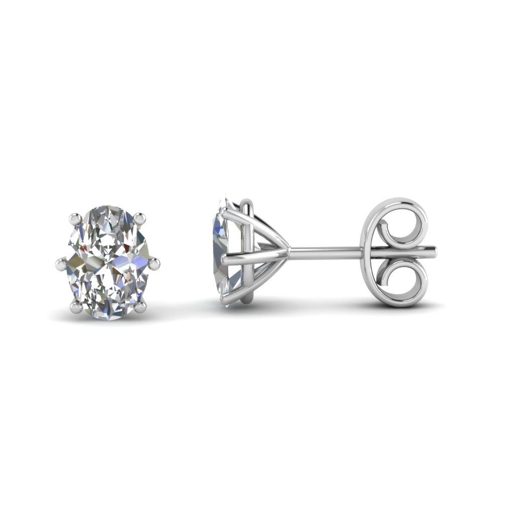 Oval Diamond Earrings Studs Oval Diamond Earrings