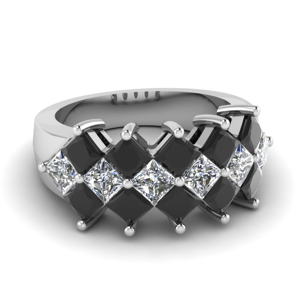 black and white wedding rings for women - Black Diamond Wedding Rings For Women