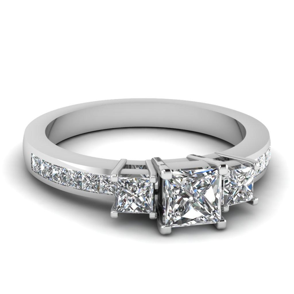 3 Stone Diamond Wedding Ring