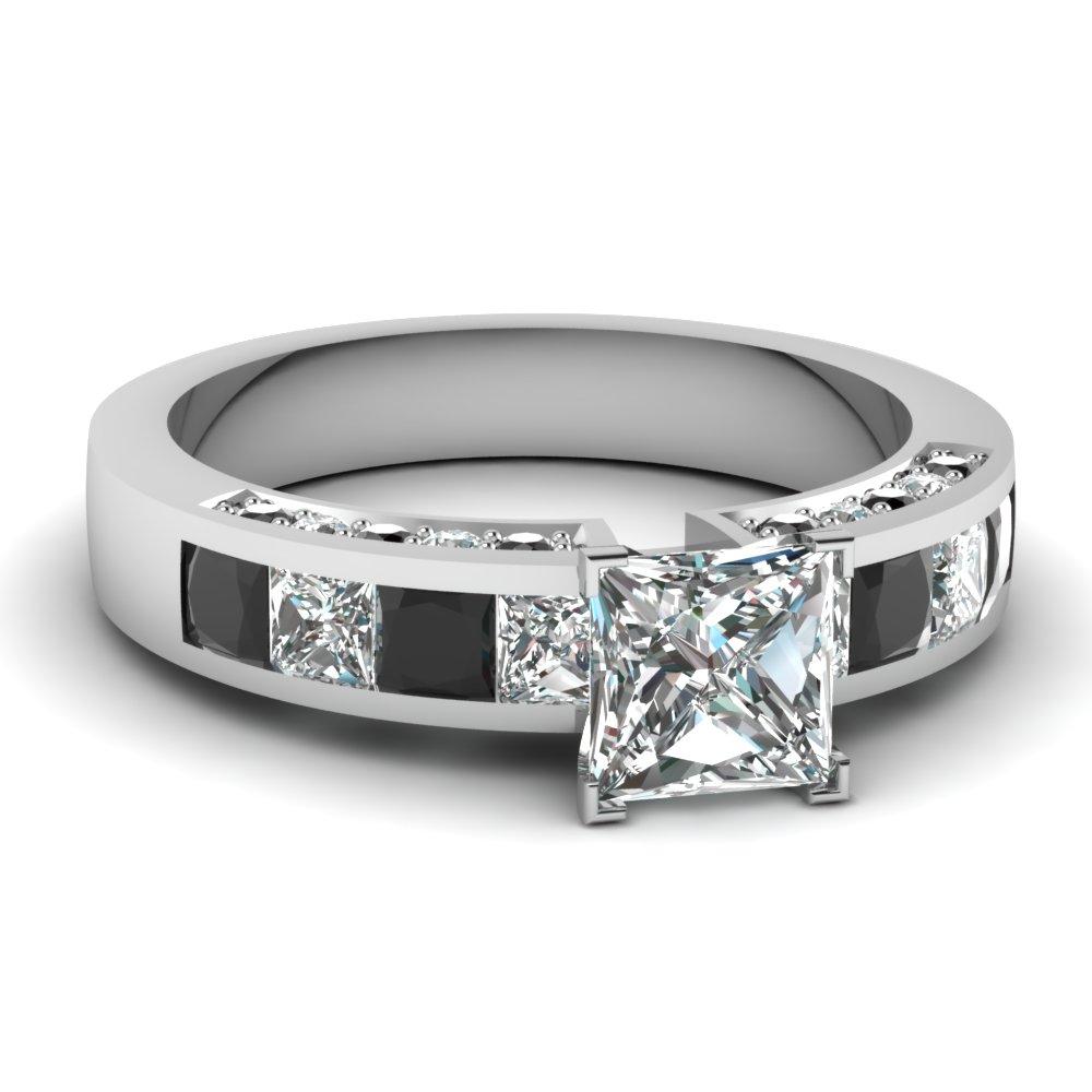 princess cut diamond engagement rings with black diamond. Black Bedroom Furniture Sets. Home Design Ideas