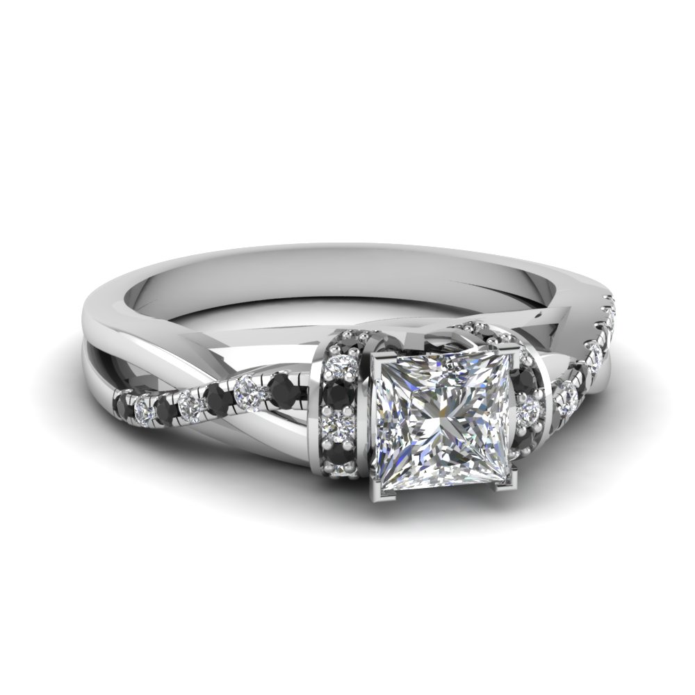 Twist Accents Diamond Engagement Ring