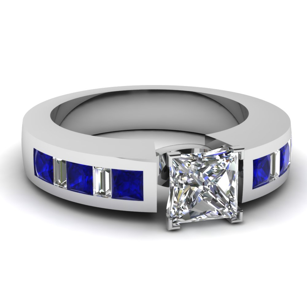 white-gold-princess-white-diamond-engagement-wedding-ring-with-blue-sapphire-in-channel-set-FDENS350PRRGSABL-PR-NL-WG