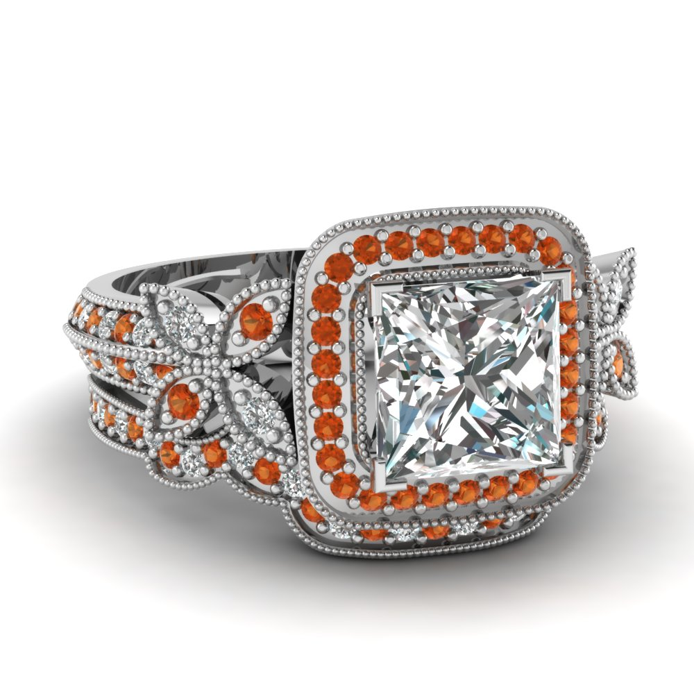 orange wedding rings Southern Sisters Designs Copy of Orange Camo Band Couples Ring Set 41 95 http