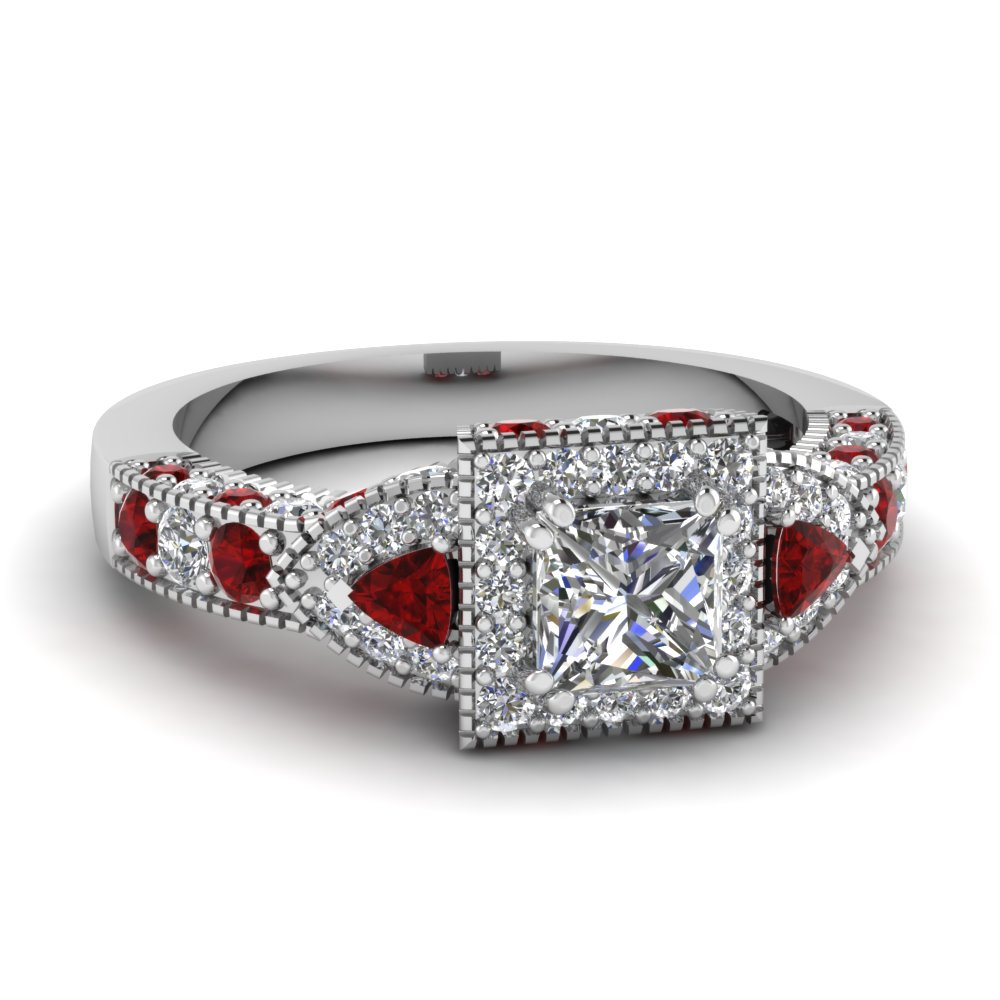 ruby ring princess cut ruby ring