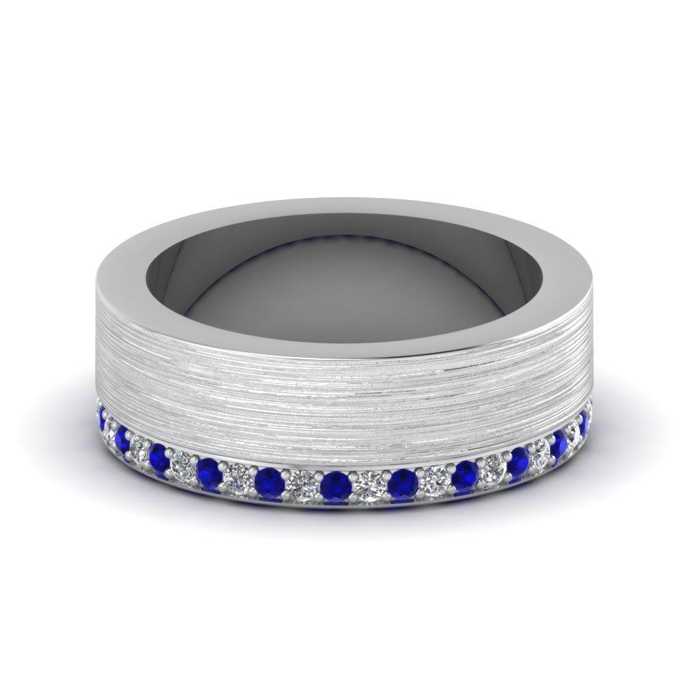 buy blue sapphire mens wedding bands fascinating diamonds