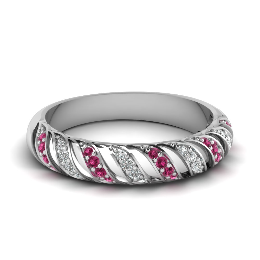 Rope Twist Womens Wedding Band